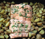 Salmone con patate