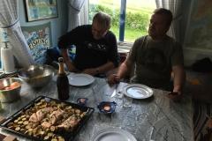 Salmone al forno con verdure